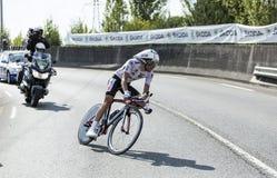 Велосипедист Thibaut Pinot - Тур-де-Франс 2014 Стоковые Изображения
