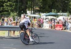 Велосипедист Thibaut Pinot - Тур-де-Франс 2014 Стоковые Фото