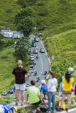 Велосипедист Vasili Kiryienka на Col de Peyresourde - путешествуйте de Fra стоковая фотография rf