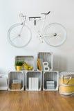 Велосипед как первоначально украшение комнаты Стоковые Изображения