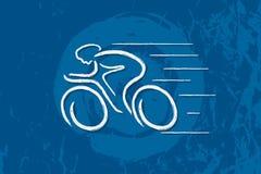 Велосипед Линейная линия график Стоковое Изображение