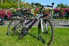 Велосипед на остатках Стоковые Фотографии RF