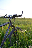 Велосипед на поле Стоковые Изображения RF