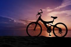 Велосипед на пляже Стоковое Изображение RF