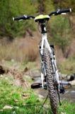 Велосипед дороги перед рекой стоковые фотографии rf