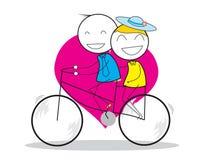 Велосипед пар Стоковая Фотография