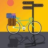 Велосипед поставки Иллюстрация штока