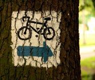 велосипед путь Стоковое фото RF