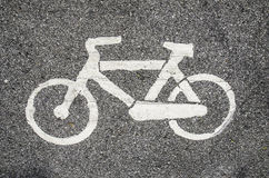 Велосипед символа Стоковые Изображения