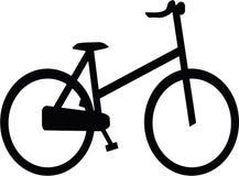 Велосипед силуэта Стоковая Фотография RF
