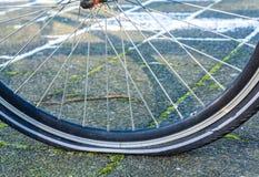 Велосипед с спущенной шиной Стоковое Изображение