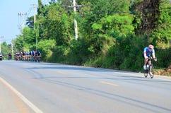 Велосипед тайских людей велосипед в гонке на Khao Yai Стоковые Изображения