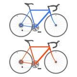 Велосипед 2 цветов на белой предпосылке вектор Стоковая Фотография RF