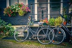 Велосипеды в Амстердаме Стоковые Изображения RF