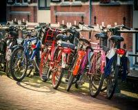 Велосипеды в Амстердаме Стоковые Фото