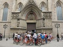 Велосипеды в Барселоне Стоковая Фотография