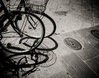 Велосипеды в Италии, Флоренции Стоковые Изображения