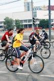 Велосипеды езды людей Стоковое фото RF