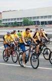 Велосипеды езды людей Стоковые Фото