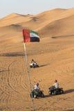 Велосипеды квада в пустыне Стоковые Фото
