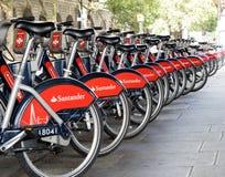 Велосипеды Лондона для найма стоковая фотография
