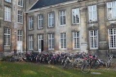 Велосипеды на коллеже лёвене ` s Папы Стоковые Фотографии RF