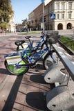 Велосипеды для найма, Краков стоковое изображение rf
