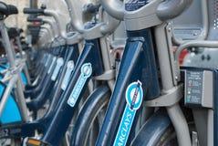 Велосипеды Barclays в Лондоне Стоковая Фотография