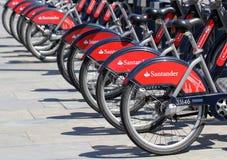 Велосипеды Borris Сантандера стоковое изображение