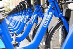 Велосипеды citi Нью-Йорка Стоковое фото RF