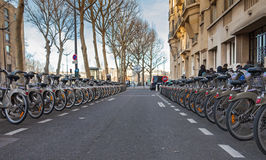 Велосипеды Velib Стоковые Фотографии RF