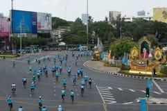 Велосипед для мамы Таиланда Стоковые Фото