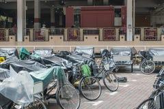 Велосипед для экипажа пассажиров в такси в Сингапуре Стоковые Изображения
