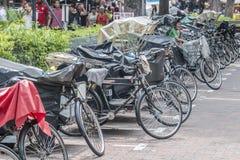 Велосипед для экипажа пассажиров в такси в Сингапуре Стоковые Фото