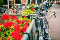 велосипед amsterdam Стоковая Фотография RF