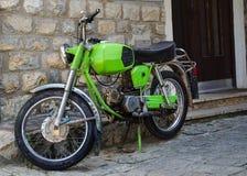Велосипед moto старого стиля Стоковые Изображения