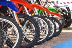 Велосипед Motocross в строке Стоковая Фотография RF