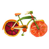 Велосипед Veggie Стоковое фото RF
