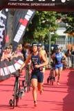 Велотренажер спорта triathlete триатлона здоровый стоковое изображение rf