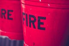 Ведра красного огня Стоковое фото RF