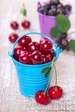 2 ведра с ягодами Стоковое Изображение