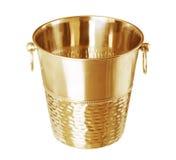 Ведро золота пустое для бутылки шампанского изолированной на белизне Стоковое Фото