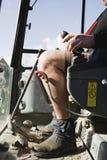 Ведро и водитель землекопа Стоковые Фото