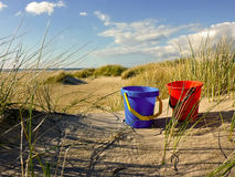 Ведро песка Стоковое Изображение