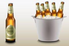 Ведро пива Стоковые Фотографии RF