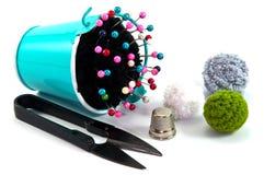 Ведро подушки Pin с шить аксессуаром Стоковое Фото