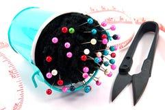 Ведро подушки Pin с шить аксессуаром Стоковое Изображение