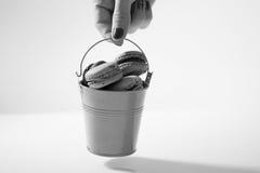 Ведро Macarons Стоковые Фото