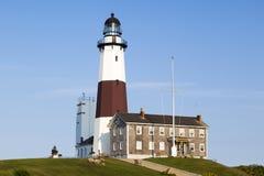 ведущее популярное пункта музея montauk маяка увиденное к прогулке взгляда Стоковые Изображения