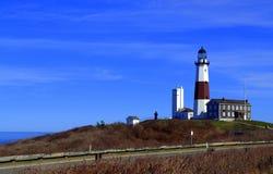 ведущее популярное пункта музея montauk маяка увиденное к прогулке взгляда Стоковая Фотография RF